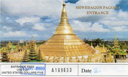 Shwedagon Entrance Ticket